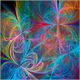 Floral colorful fantasy abstract art image